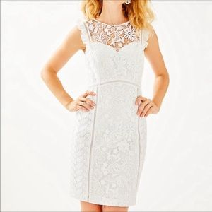 LILLY PULITZER Maya Shift Floral Lace Resort White